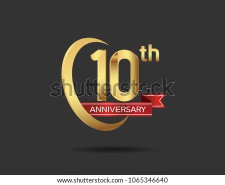 Th anniversary design logotype golden color stock photo photo