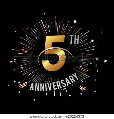 5th Anniversary Stock Images Royalty Free Images