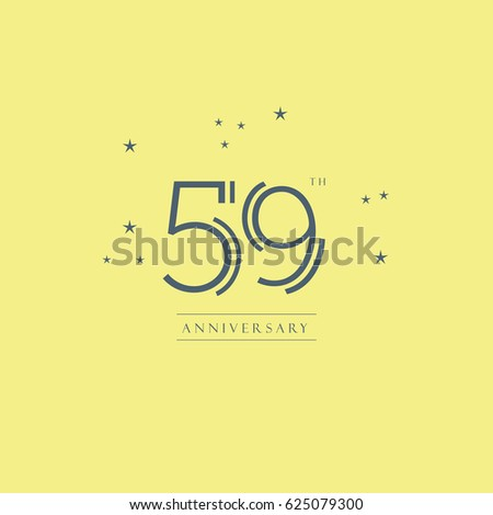 59th Anniversary Logo Symbol Vector Element Stock Vector 2018