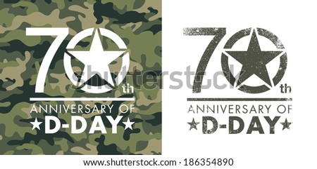 70th anniversary of D-Day - stock vector