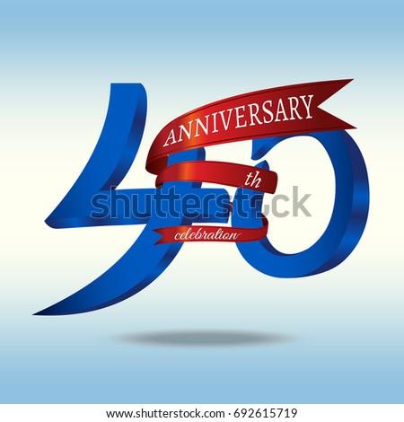 40th Anniversary Symbol Vector Stock Vector 692615719 ...
