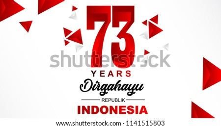 73th August 2018 Logo Special happy independence Indonesia day red and white bacground vector illustration design 5