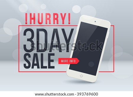 3th day sale banner. Sale and discounts. Vector illustration. Sale banner. Sale discount offer - stock vector