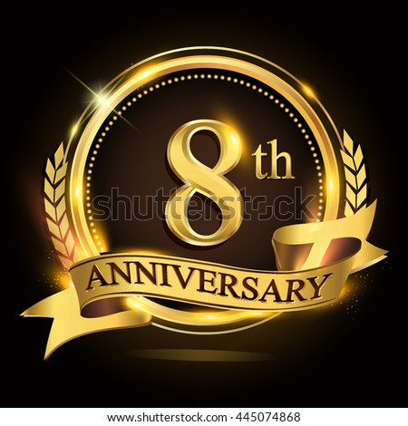 8th Anniversary Stock Images Royalty Free Images