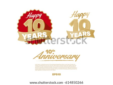 Th golden years anniversary logo celebration stock vector