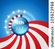 4th july american independence day vector - stock photo