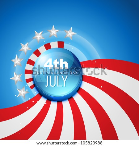 4th july american independence day vector - stock vector