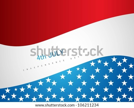 4th july american independence day vector background - stock vector