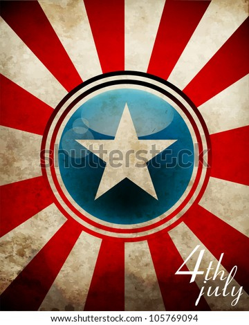 4th July background eps10 - stock vector