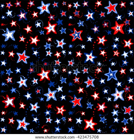 4th July background. Vector Illustration