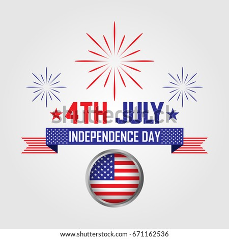 4th july happy independence day american stock vector 2018 4th july happy independence day american flag greeting celebrate memorial m4hsunfo