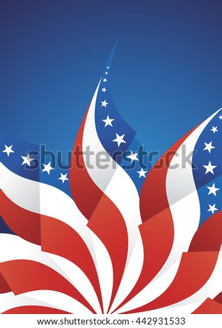 4th July Independence Day abstract background vector