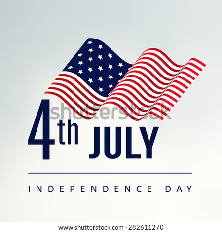 4th July Independence day, vector illustration background with us flag - stock vector