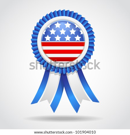 4th July Vector Ribbon - stock vector