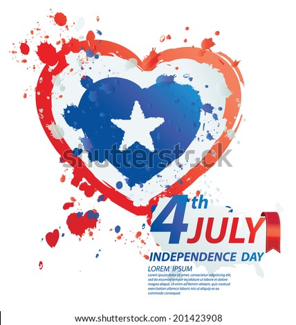 4th of July American independence day - stock vector