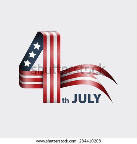 4th of july american independence day background. - stock vector