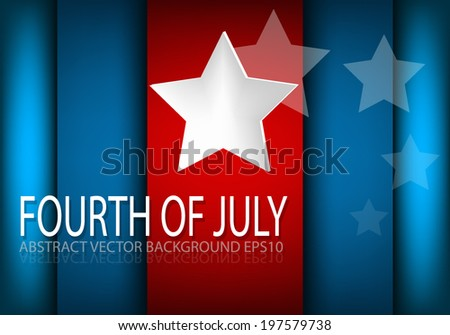 4th of July, American independence day background square for text and message design , vector - stock vector