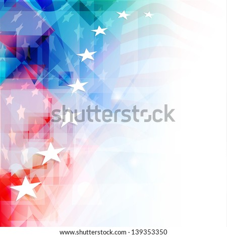 4th of July, American Independence Day colorful background with shiny stars. - stock vector