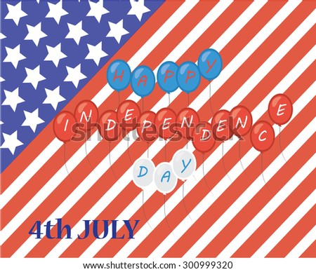 4th of July, American Independence Day vector background - stock vector