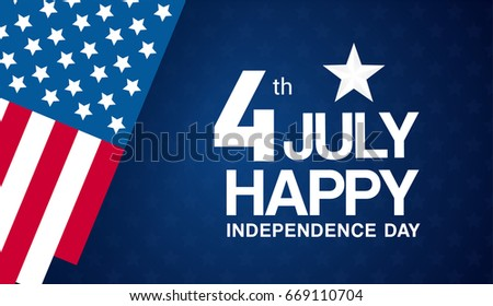 Independence day background stock images royalty free images 4th of july banner vector illustration happy independence day us flag with text on spiritdancerdesigns Gallery
