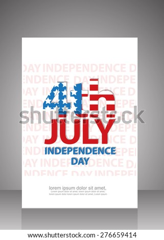 4th of july happy independance day flyer ,brochure template. vector - stock vector