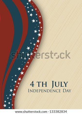 4th of July Happy Independence Day background. - stock vector