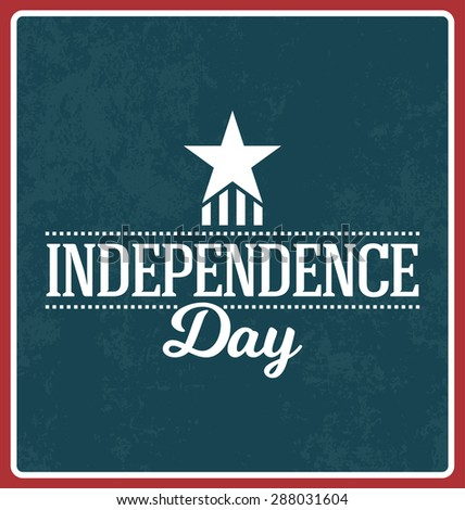 4th of July - Independence Day Design - stock vector