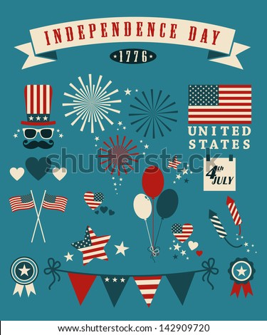 4th of July, Independence Day of the United States. - stock vector