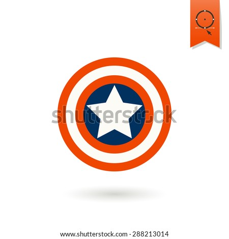 4th of July, Independence Day of the United States, Simple Flat Icon. Star Vector - stock vector
