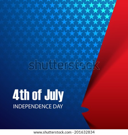 4th of july United States of America with stylish wave background  illustration vector - stock vector