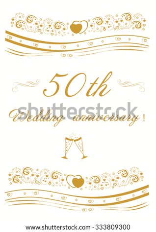 50th wedding anniversary invitation stock vector 433143847 50th wedding anniversary invitation editable vector illustration stopboris Choice Image