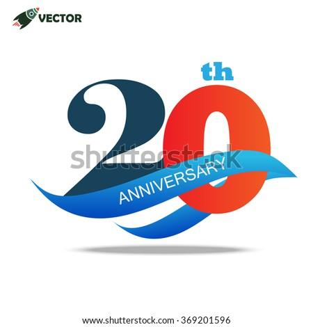 20th Year Anniversary Logo Sign Stock Vector Hd Royalty Free