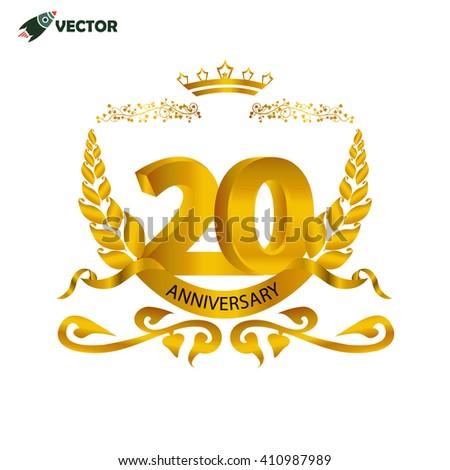 20th Year Anniversary Wedding Birthday Winner Stock Vector 410987989