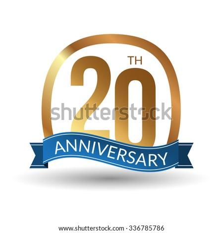 20 20th Years Advantage Anniversary Award Stock Vector 336785786