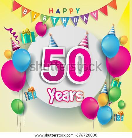 50th Birthday Images RoyaltyFree Images Vectors – Birthday Greetings Clip Art