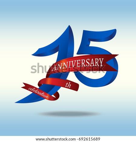 15th Years Anniversary Symbol Vector Stock Vector 692615689