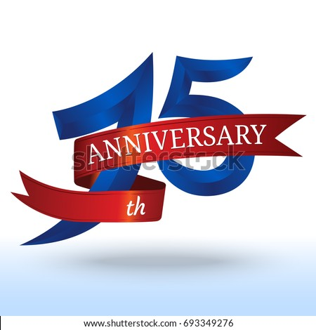15th Years Anniversary Symbol Vector Stock Vector 693349276