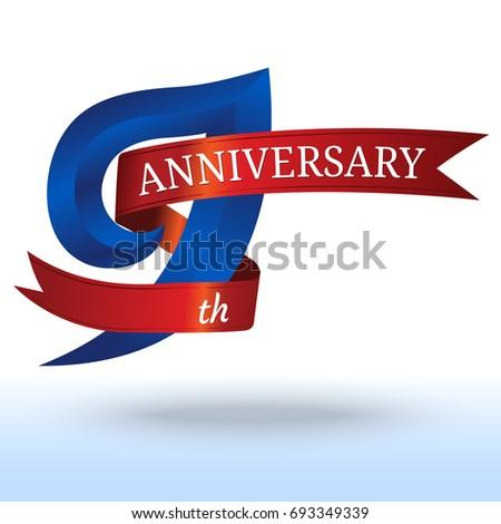 9th Years Anniversary Symbol Vector Stock Vector 693349339