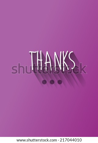 """thanks"" typography with shadow vector, Eps 10 - stock vector"