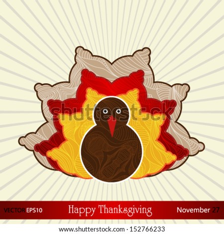 Thanksgiving card in vector format.