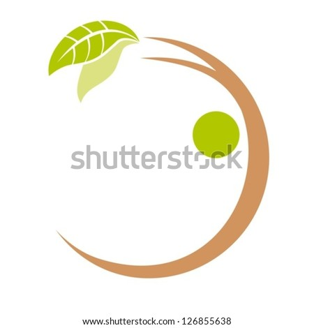 The abstract image of a tree in the form of the person. EPS-10 (non transparent elements,non gradient). - stock vector