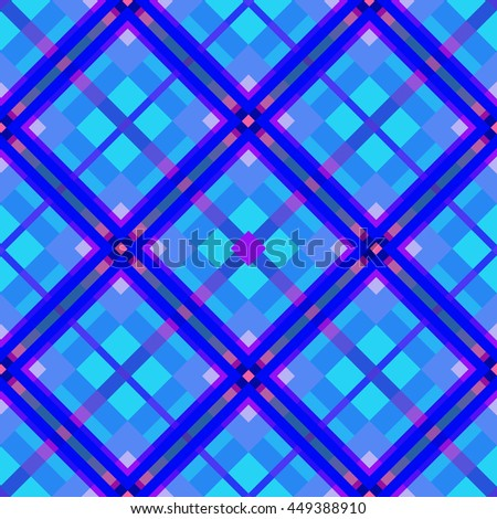 The pink-blue seamless geometric Pattern.Intersecting diagonal stripes.Vector illustration.Can be used for textile,fabric,wrapping paper. - stock vector
