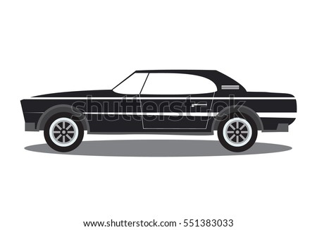 Muscle Car Flat Stock Images Royalty Free Images Vectors