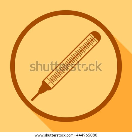 Thermometer with a scale for measuring temperature.Icon vector. - stock vector