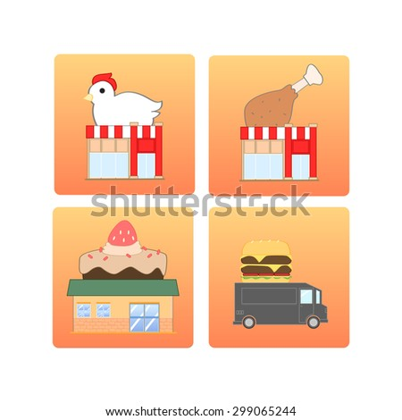 These icons can be used in presentation about how much people choose these kinds of food per day, month or year. Even these icons can be used for decoration your restaurants or menu. - stock vector