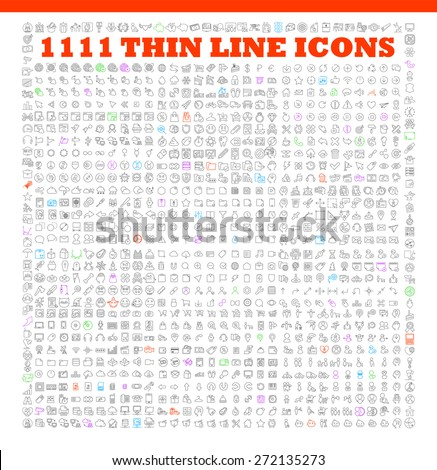1111 thin line icons exclusive XXL icons set contains: universal interface, navigation, people, web store, finance themes, and many other. Ideal set for infographics