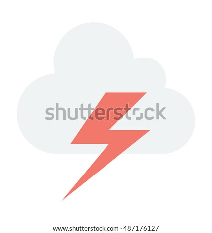 Thunderstorm Vector Icon