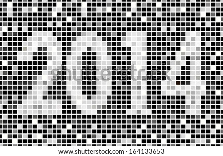 2014 tiled shades of gray. Can be used as a banner advertising, greeting the New Year, etc.