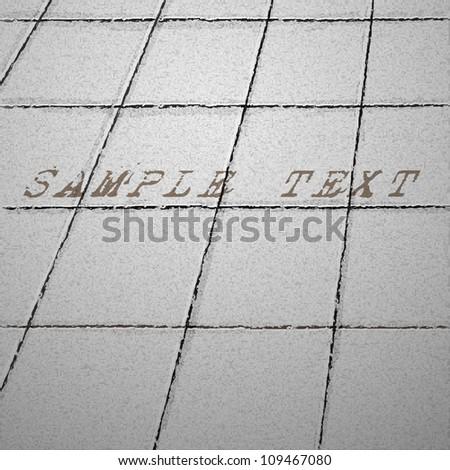 Tiles ground. Vector background - stock vector