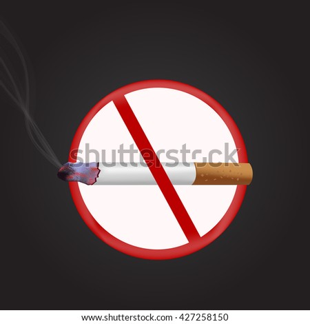 tobacco day sign and symbol with dark background. vector